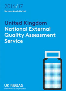 Download the 2016/2017 Nation External Quality Assessment Service from UK NEQAS