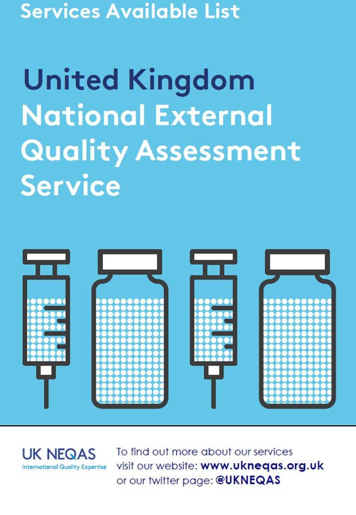 UK NEQAS Services Available