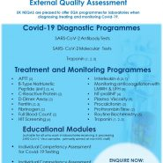 UK NEQAS are pleased to offer EQA programmes for laboratories when diagnosing, treating and monitoring Covid-19